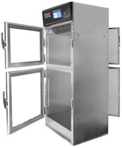 Pass thru warming cabinet with touchscreen