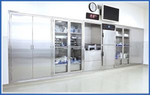 Increased Storage Capacity Customized Stainless Steel Storage Cabinets