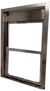 CMP double hung pass through sterile processing (SPD) window with trim - up and down opening