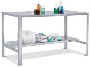 nurse documentation desk with shelf for printer
