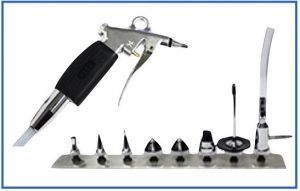 SPD Decontamination worksink's optimal Spray gun and attachment tips